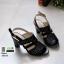 รองเท้าส้นสูงรัดส้น 10164-ดำ [สีดำ] thumbnail 3