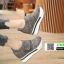 รองเท้าผ้าใบ ลายสก้อช แปะเมจิกปรับขนาดด้านข้าง 06-1-แดง [สีแดง] thumbnail 3