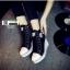 รองเท้าผ้าใบหุ้มข้อส้นเตารีดสีดำ ซิปข้าง Style Converse (สีดำ ) thumbnail 3