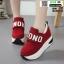 รองเท้าผ้าใบเสริมส้น งานนำเข้า100% ST09-RED [สีแดง] thumbnail 1