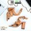 รองเท้าส้นสูงรัดข้อ ไขว้หน้า G1283-TAN [สีแทน] thumbnail 4
