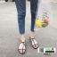 รองเท้าแตะผู้หญิงรัดส้น Celine sandals C55-1-BLK [สีดำ] thumbnail 5