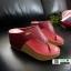 รองเท้าเตารีด เสริมส้นหูคีบ พื้นลายตาราง โลโก้ลาคอส 1108-แดง [สีแดง] thumbnail 3