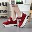 รองเท้าผ้าใบเสริมส้น งานนำเข้า100% ST09-RED [สีแดง] thumbnail 4
