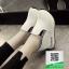 รองเท้าผ้าใบเสริมส้นสีขาว นำเข้า สไตล์เกาหลี (สีขาว ) thumbnail 3