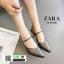 รองเท้าเปิดส้น Zara style หัวแหลม C3-12-D-GREY [สีเทาเข้ม] thumbnail 3