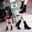 รองเท้าบูทส้นสูงสีดำ ทรงสูง ซิปหลัง (สีดำ ) thumbnail 5