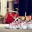 รองเท้าผ้าใบ PU ทรง SPORT-Red A-11 [สีแดง] thumbnail 3
