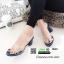 รองเท้าส้นสูงแบบสวม พลาสติกใสนิ่ม RU45-น้ำเงิน [สีน้ำเงิน] thumbnail 3