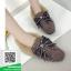 รองเท้าคัทชูแฟชั่น สไตล์เกาหลี ทรงหัวตัด แต่งโบว์เพชร (สีดำ ) thumbnail 5