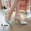 รองเท้าส้นสูงแบบหัวแหลม แต่งกลิตเตอร์ 519-เงิน [สีเงิน] thumbnail 2