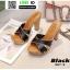 รองเท้าส้นสูงเสริมหน้า หน้าไขว้ 907-2-BLK [สีดำ] thumbnail 2