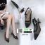 รองเท้าส้นสูงรัดส้น dior ผ้าตาข่าย 279-13-BLK [สีดำ] thumbnail 2