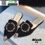 รองเท้าหัวแหลมเปิดส้น หนังชามัวร์นิ่ม 018-BLK [สีดำ] thumbnail 5