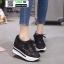 รองเท้าผ้าใบเสริมส้น งานนำเข้า100% ST315-BLK [สีดำ] thumbnail 1