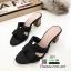 รองเท้าแตะสไตล์H ส้นเหลี่ยม J331-ดำ [สีดำ] thumbnail 1
