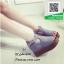 รองเท้าส้นเตารีดหุ้มส้นสีเทา เปิดหน้า (สีเทา ) thumbnail 3