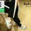 รองเท้าแตะผู้หญิงสีขาว ผ้าลูกไม้ (สีขาว ) thumbnail 3