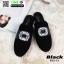 รองเท้าส้นเตี้ย เปิดส้น Roger G33-13-BLK [สีดำ]