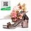 รองเท้าส้นตันรัดข้อสีเทา สไตล์ ZARA (สีเทา ) thumbnail 3