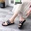 รองเท้าแตะแฟชั่น ฉลุลาย อะไหล่กลม N811-BLK [สีดำ] thumbnail 2