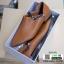 รองเท้าส้นเตี้ยเปิดส้น สุดชิค งานเก๋ แต่งสีเรียบ G-1299-BWN [สีน้ำตาล] thumbnail 5