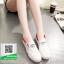 รองเท้าผ้าใบแฟชั่นสีขาว แบบสวม ขอบแบบยืดได้ (สีขาว ) thumbnail 2