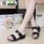 รองเท้าแตะพียู แบบสวม ส้นโฟม PU6097-BLK [สีดำ] thumbnail 2