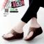 รองเท้าลำลองส้นเตารีดแบบคีบ 268-น้ำตาล [สีน้ำตาล ]