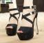 รองเท้าส้นสูงหุ้มหลังรัดข้อ ST2688-BLK [สีดำ]