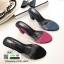 รองเท้าส้นสูงแบบสวม พลาสติกใสนิ่ม RU45-ดำ [สีดำ] thumbnail 2