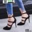 รองเท้าคัชชูรัดข้อส้นเข็ม ST1860-BLK [สีดำ] thumbnail 3