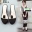 รองเท้าแบบสวมส้นเตารีด ST2012-BLK [สีBLK] thumbnail 3