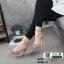 รองเท้าส้นสูงหุ้มข้อรัดส้น สไตล์valentino G5-274-CRM [สีครีม] thumbnail 1