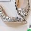 รองเท้าคัทชูส้นเข็มสีทอง หัวแหลม Style Chanel (สีทอง ) thumbnail 4
