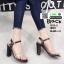 รองเท้าส้นแท่งหุ้มข้อเปิดส้น 1812-5-BLK [สีดำ] thumbnail 1