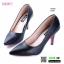 รองเท้าคัชชูงานหนังจ้าดีไซน์ทรงหัวแหลม K9336-BLK [สีดำ]