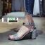 รองเท้าส้นสูงนำเข้าสไตล์เกาหลี 0653-เงิน [สีเงิน] thumbnail 2