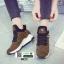 รองเท้าผ้าใบสไตล์เกาหลี 0023-BROWN [สีน้ำตาล] thumbnail 5
