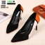 รองเท้าคัชชูส้นเข็ม ST8858-BLK [สีดำ]