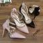 รองเท้าคัชชูรัดข้อหุ้มส้นเปิดข้าง ST8982-PNK [สีชมพู] thumbnail 4