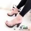 รองเท้าส้นสูงหน้าใส พื้นลายดอก 7801-7-ส้ม [สีส้ม] thumbnail 4