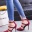 รองเท้าส้นเข็มหัวแหลม คาดหน้า 866-7-RED [สีแดง] thumbnail 4
