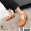 รองเท้าผ้าใบแบบสวม วัสดุหนังวัว แท้100% N926-ORG [สีส้ม] thumbnail 2