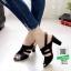 รองเท้าส้นสูงเปิดส้น 10164-ดำ [สีดำ] thumbnail 1