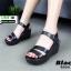 รองเท้า platform สไตล์เกาหลี G806-BLK [สีดำ] thumbnail 2