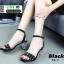 รองเท้าส้นสูงรัดข้อ สไตล์valentino ส้นแก้ว C3-7-BLK [สีดำ] thumbnail 3