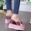 รองเท้าแบบสวมส้นเตารีด ST05-PNK [สีชมพู] thumbnail 4