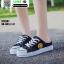 รองเท้าผ้าใบสวมเปิดท้าย ST2991-BLK [สีดำ] thumbnail 2