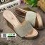 รองเท้าส้นเตารีด สไตล์แบรนดัง RU40-PINK [สีชมพู] thumbnail 3